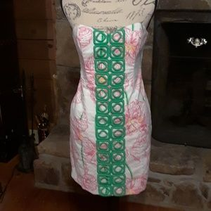Lilly Pulitzer strapless Angela dress